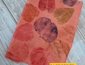 나뭇잎 스탬프염색어떤 나뭇잎 일까요?이런모양과 색색이 ~너무 놀라워요~^^