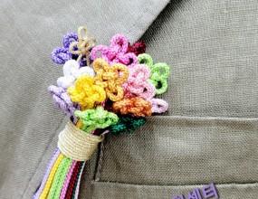 생쪽매듭브럿지완성!!어느옷에도 잘오울리는생쪽매듭 브럿지